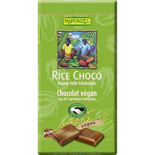 Ciocolata VEGANA cu lapte de orez 100g