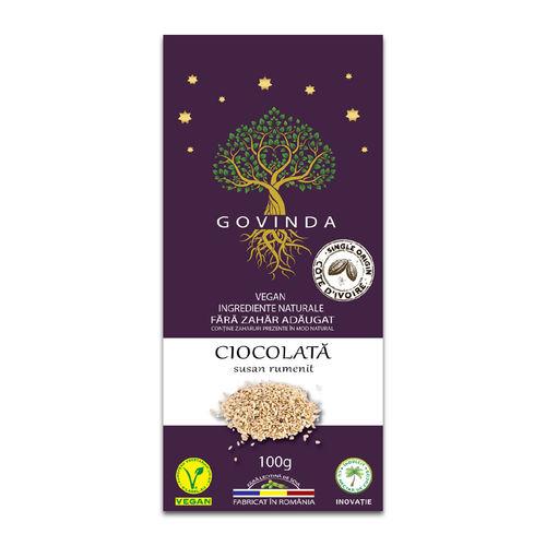 Ciocolată artizanală vegană cu Susan Rumenit, 100g