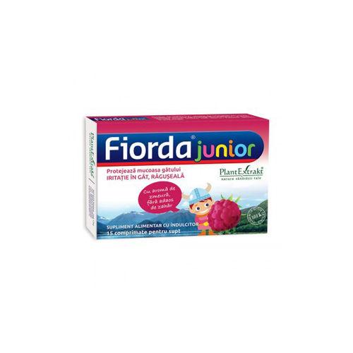 FIORDA Junior - Comprimate cu Aromă de Zmeură, 15 cmp