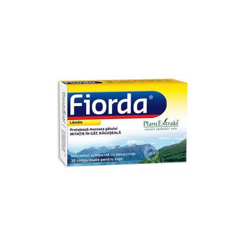 FIORDA - Comprimate cu Aromă de Lămâie, 30 cmp