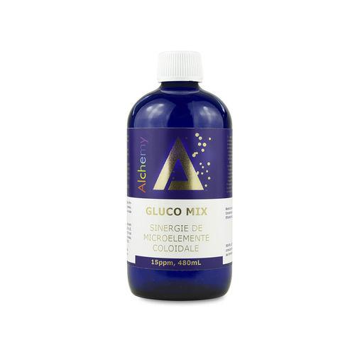 Gluco Mix, sinergie de aur, argint, crom si vanadiu coloidal 15ppm