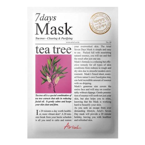 Mască Șervețel 7Days Mask Arbore de Ceai, Curățare și Purificare, 20g