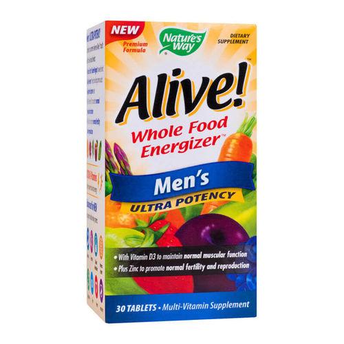 Alive! Bărbați Ultra, 30 tablete filmate