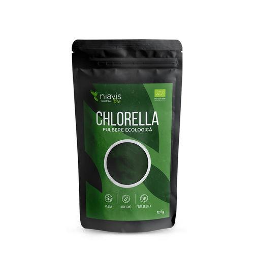 Chlorella Pulbere Ecologica/Bio 125g I Niavis imagine produs 2021 Niavis viataverdeviu.ro