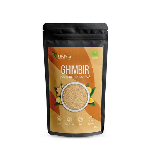 Ghimbir Pulbere Ecologică/Bio 60g
