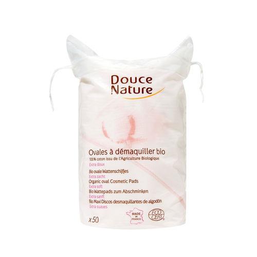 Ovale Demachiante din Bumbac Organic, 50 bucăți