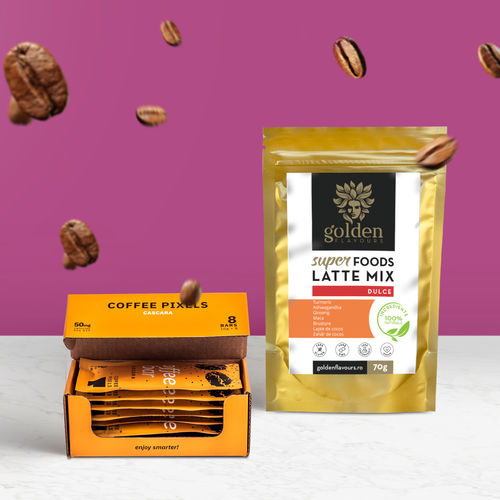 Pachet ENERGY Coffee Pixels Cascara 8 buc + Superfoods Latte Mix Dulce 70g imagine produs 2021 Coffee Pixels viataverdeviu.ro