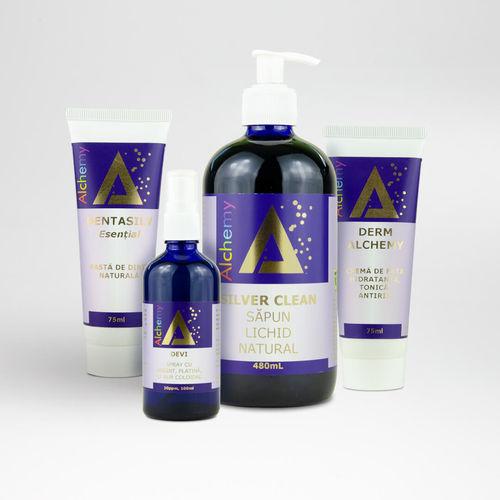 Pachet produse cosmetice cu minerale coloidale imagine produs 2021 Pure Alchemy viataverdeviu.ro