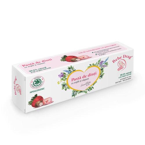 Bebe Drag Pastă de Dinţi cu Argilă Desilicată și Căpșuni, 50ml