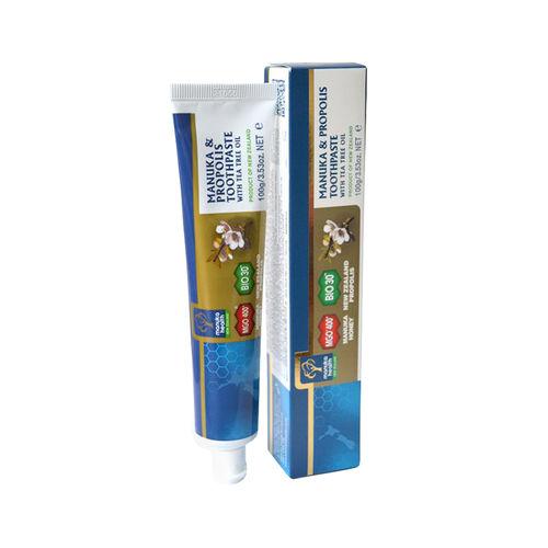 Pastă de dinți cu Miere de Manuka MGO™ 400+, Propolis BIO30™ și Ulei de arbore de ceai 100g