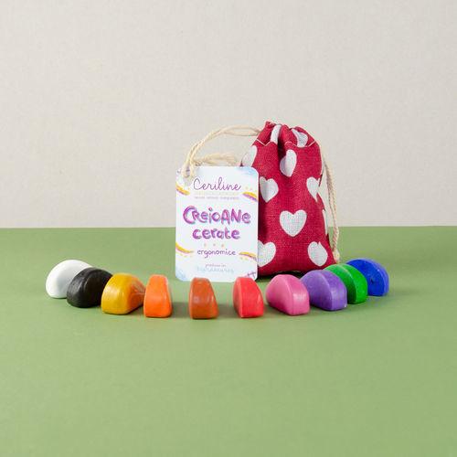 Ceriline - creioane cerate ergonomice, pachet 10 culori imagine produs 2021 Plastefina viataverdeviu.ro