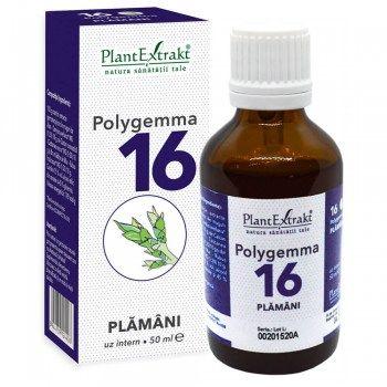 POLYGEMMA Nr.16 (Plămăni - Detoxifiere), 50ml