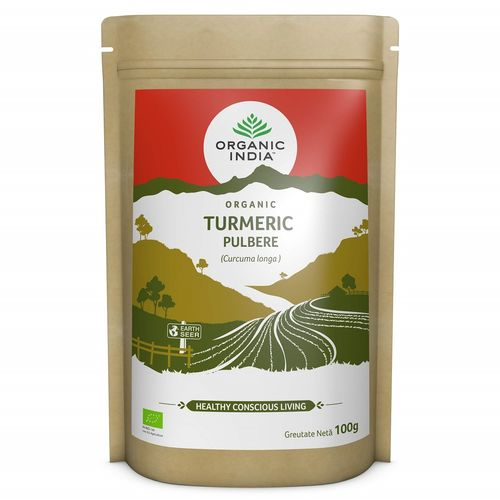 Turmeric Pulbere, 100% Organic, 100g