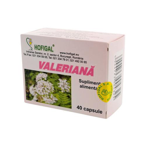 Valeriană, 40 capsule