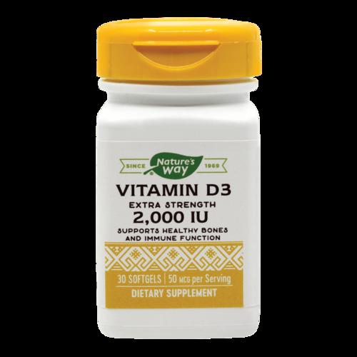 Vitamin D3 2000UI (Adulți), 30 capsule moi
