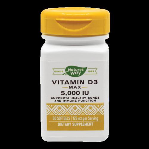 Vitamina D3 5000UI, 60 capsule moi