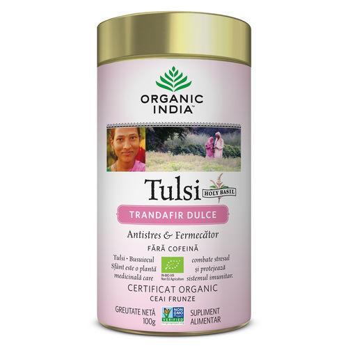 Ceai Tulsi Trandafir Dulce, Antistres & Fermecator 100g