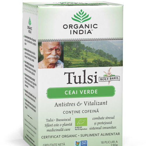 Ceai Verde Tulsi, Antistres & Vitalizant 18pl