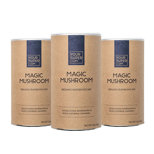 Pachet Cură Completă MAGIC MUSHROOM Organic Superfood Mix, 3x 150g