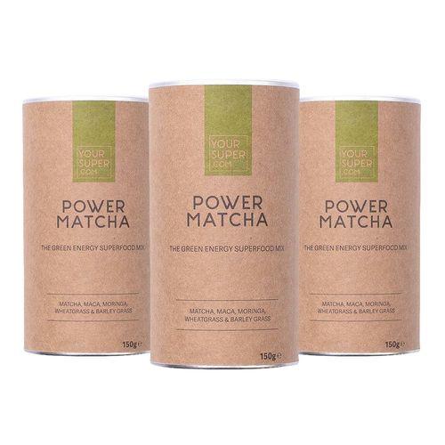 Pachet Cură Completă POWER MATCHA Organic Superfood Mix, 3x 150g