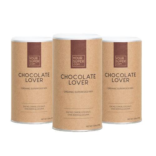 Pachet 3x CHOCOLATE LOVER Organic Superfood Mix, 200g