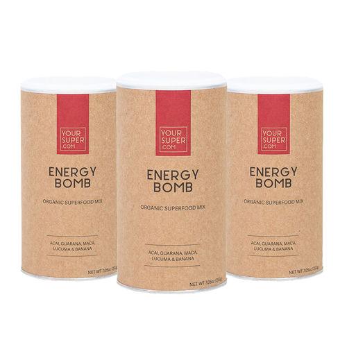 Pachet Cură Completă ENERGY BOMB Organic Superfood Mix, 3x 200g