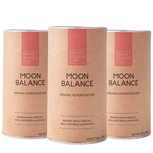 Pachet Cură Completă MOON BALANCE Organic Superfood Mix, 3x 200g