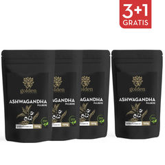 3+1 Gratis Ashwagandha pulbere 100% naturală, 150g | Golden Flavours