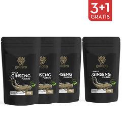 3+1 Gratis Ginseng Panax pulbere 100% naturală, 70g   Golden Flavours