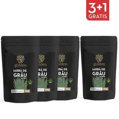 3+1 Gratis Iarbă de Grâu Pulbere 100% Naturală, 150g | Golden Flavours