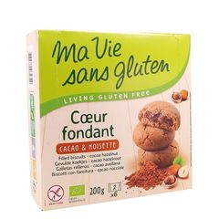 Biscuiți Fără Gluten cu Cremă de Cacao și Alune, 200g | Ma vie sans gluten