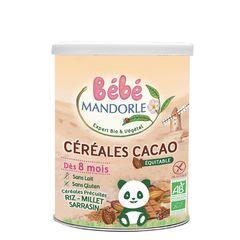Cereale cu Cacao Pentru Bebeluși - de la 8 luni, 400g | La Mandorle