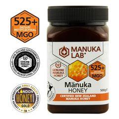 Miere de Manuka, MGO 525+ Noua Zeelandă Naturală, 500g | MANUKA LAB