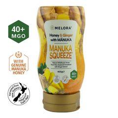 Miere din Flora Sălbatică a Noii Zeelande cu Miere de Manuka MGO 40+ și Extract de Ghimbir Naturală, 400g | MELORA