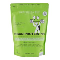 Vegan Protein 70%, Pulbere Funcțională Ecologică, 600g | Republica BIO