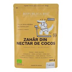 Zahăr din Nectar de Cocos Ecologic Pur, 200g | Republica BIO