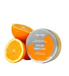 How hot is that: Scrub vegan de corp cu sare de mare si ulei esential de portocale | Uoga Uoga