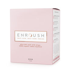 Absorbante 100% Organice NOAPTE, 8 bucăți | Enroush