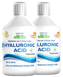 Pachet 2 x Acid Hialuronic Lichid 100Mg Super Concentrat, 500 ml | Swedish Nutra