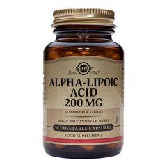 Alpha Lipoic Acid (Antioxidant Acid alfa-lipoic) 200mg, 50 capsule | Solgar