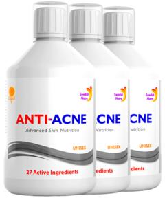Pachet 3 x Anti-Acnee Complex Lichid cu 27 Ingrediente Active, 500 ml| Swedish Nutra