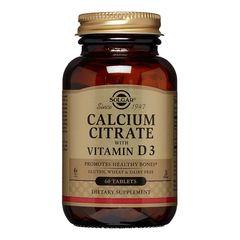 Calcium Citrate cu Vitamina D3 (Mineral Citrat de calciu & D3) 250mg, 60 tablete | Solgar