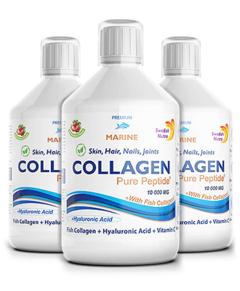 Pachet 3 x Colagen Marin Hidrolizat 10000mg cu  9 Ingrediente Active, 500 ml | Swedish Nutra
