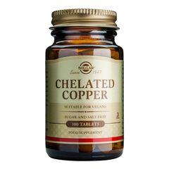 Chelated Copper (Mineral Cupru chelat) 2,5mg, 100 tablete | Solgar