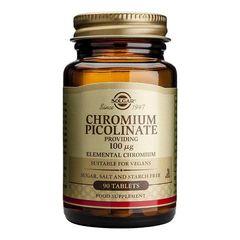 Chromium Picolinate (Mineral Picolinat de crom) 100mcg, 90 tablete | Solgar