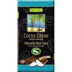 Ciocolată Amăruie cu Umplutură de Cremă de Cocos Vegană, 100g | Rapunzel