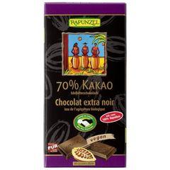 Ciocolată amăruie 70% cacao eco/bio, VEGANĂ, 80g | Rapunzel