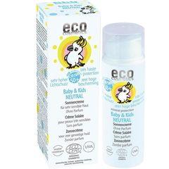Cremă Bio Protecție Solară Bebe și Copii FPS50+ Pentru Piele Foarte Sensibilă, Fără Parfum, 50ml | Eco Cosmetics