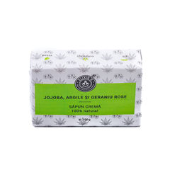 Săpun Cremă Jojoba, Argilă și Geraniu, 100g | Elixir H