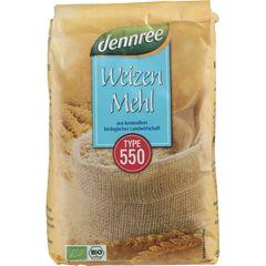 Făină Albă de Grâu tip 550, 1000g | Dennree